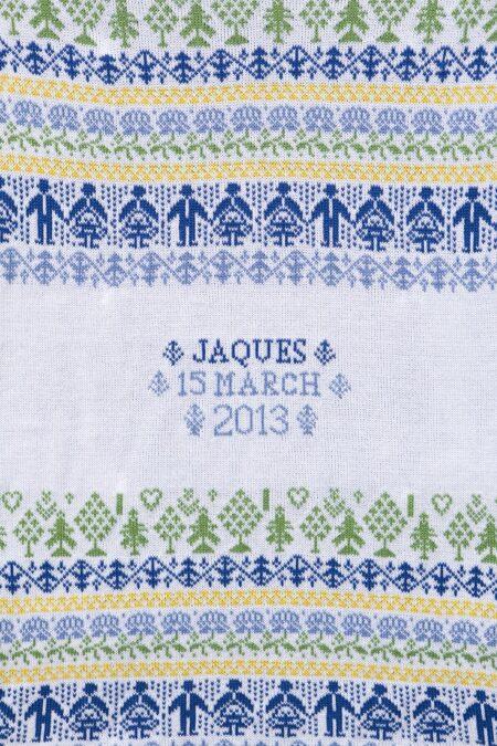 People & Trees personalised baby blanket in CROMER