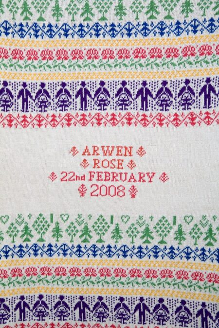 People & Trees personalised baby blanket, in the bright NORWICH colourway