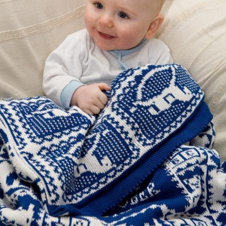 Edwardian Toys personalised baby blanket in ROYAL blue