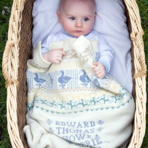Personalised Baby Blanket (Animals & Flowers in Stiffkey)