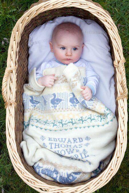Personalised Baby Blanket (Animals & Flowers in Stiffkey)