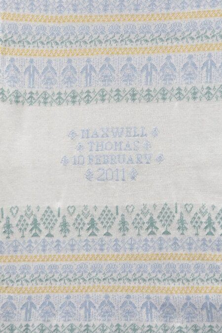 People & Trees personalised baby blanket in STIFFKEY (shown knitted in cotton)