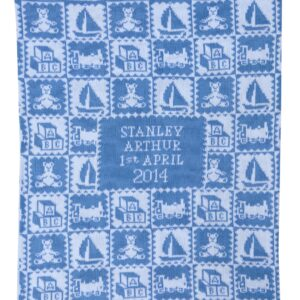 Edwardian Toys baby blanket in Cornflower