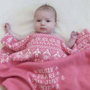 Personalised Baby Blanket - People & Trees