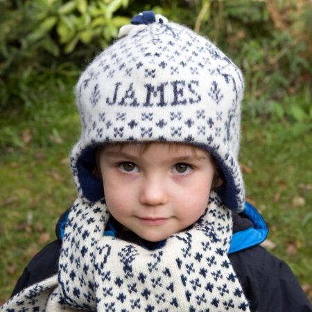 Knitted Reindeer Personalised Child Hat