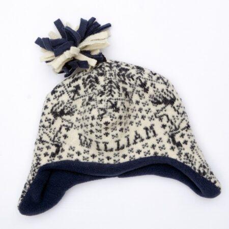 Navy Reindeer Hat