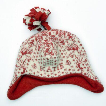 Scarlet Reindeer Hat