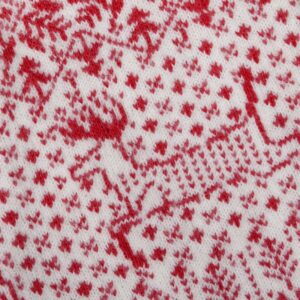 knitted reindeer Christmas stocking detail