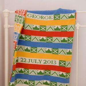 Geometrics 3 - personalised baby blanket