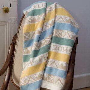 Geometrics 4 personalised baby blanket