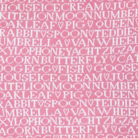 Alfie & Betty Candyfloss Personalised Baby Blanket - reverse