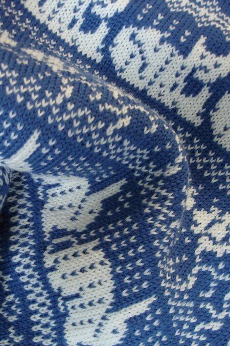 HOLKHAM blue baby blanket - detail