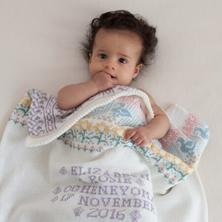 Animals & Flowers personalised bab y blanket