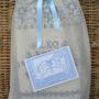 Muslin gift bag and card