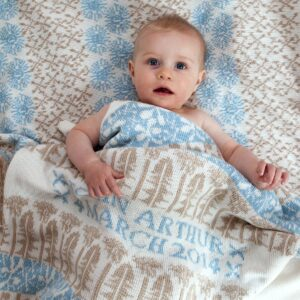 Craxton personalised baby blanket in Field