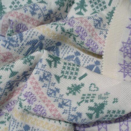 WELLS baby blanket in wool - detail