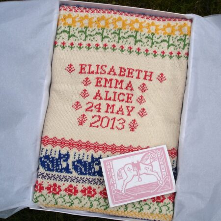 Gift box with personalised baby blanket