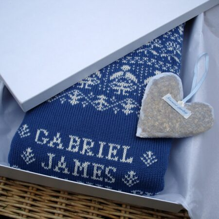 personalised baby blanket in gift box