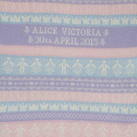 Personalised Cashmere Baby Blanket - Sandringham design