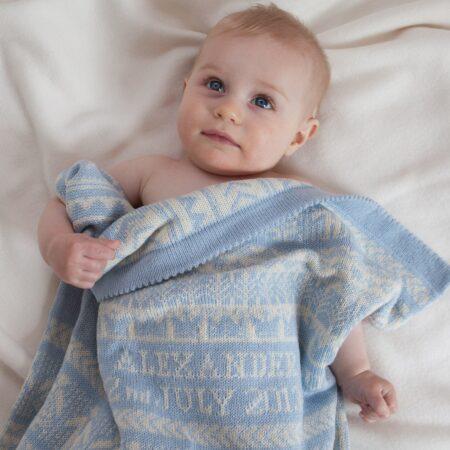 Personalised Cashmere Baby Blanket - Osborne