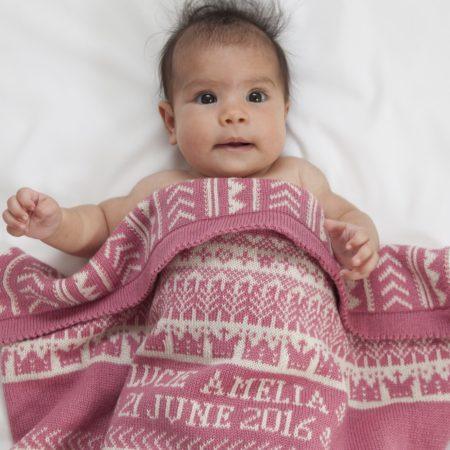 Kensington Personalised Cashmere Baby Blanket