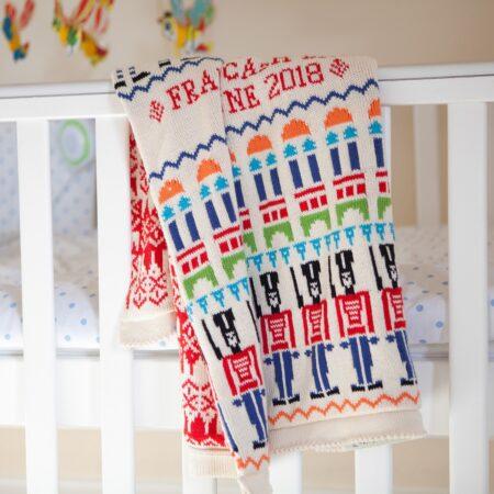 Toybox baby blanket