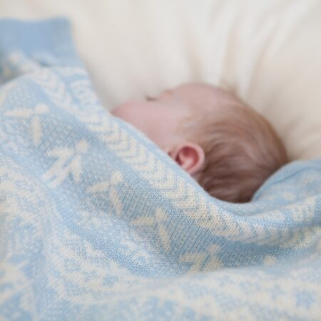 baby blue cashmere blanket