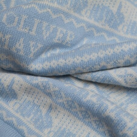 Balmoral Cashmere Baby Blanket close up