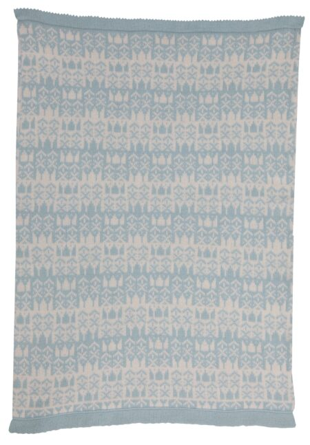 Balmoral Cashmere Baby Blanket Reverse